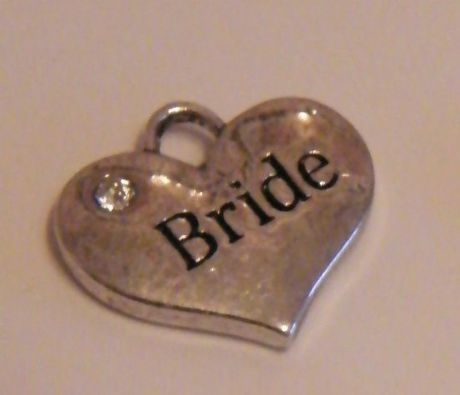 Bride Wine Glass Charm - Full Bead Style